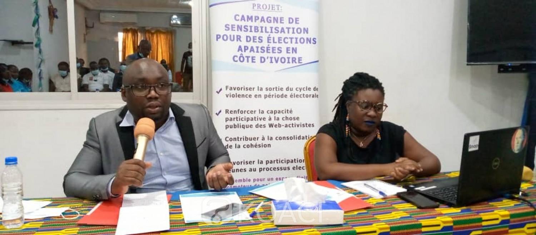 Côte d'Ivoire : À la veille de l'élection législative, le Collectif des Webactivistes  sensibilise les populations sur la tenue d'élections apaisées