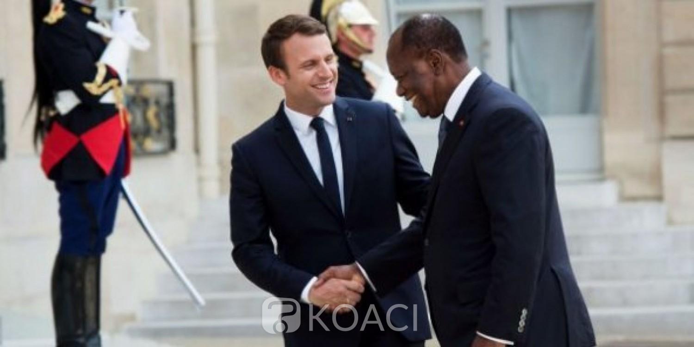 Côte d'Ivoire : Entretien et diner avec Emmanuel Macron pour Alassane Ouattara en France