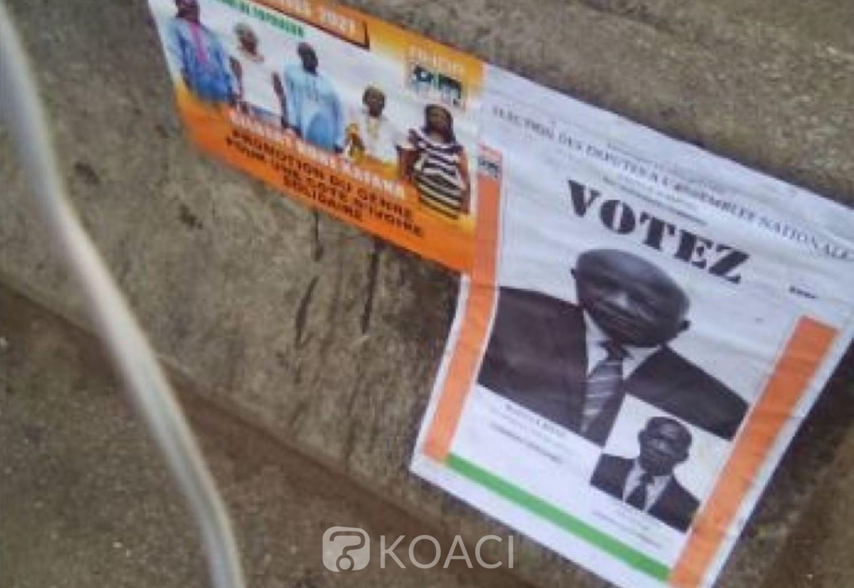 Côte d'Ivoire : Destruction  des affiches des candidats, des peines d'emprisonnement d'un à cinq ans prévues