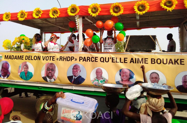 Côte d'Ivoire : Bouaké, pour la victoire de la liste RHDP, une Franco ivoirienne participe ardemment à la campagne