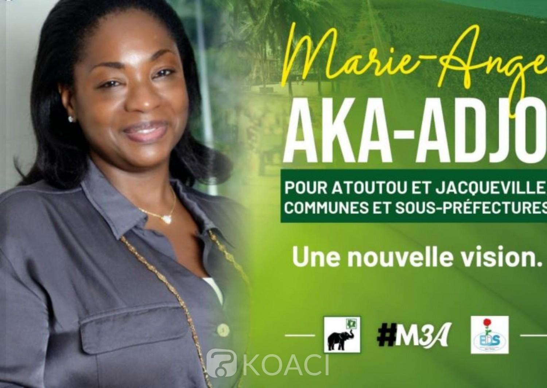 Côte d'Ivoire : Après le décès  de Laurette Yacé,  Docteur Marie-Ange Aka-Adjo candidate de la liste PDCI-RDA-EDS à Jacqueville