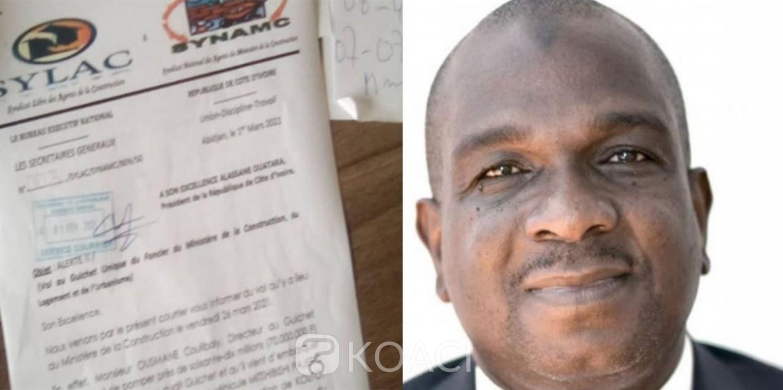 Côte d'Ivoire : Ministère de la Construction, grave accusation de vol contre le Directeur du Guichet unique, la présidence saisie