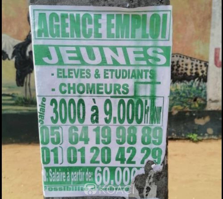 Côte d'Ivoire : Recrutement d'élèves, étudiants et de chômeurs avec promesse de salaires, arnaque !