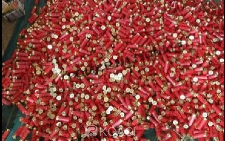 Côte d'Ivoire : Saisie de 3750 cartouches de calibre 12 par la police à Bondoukou