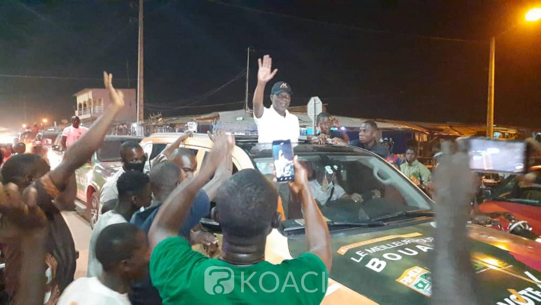 Côte d'Ivoire : Bouaké, pour les législatives, Amadou Koné finit la campagne en parade