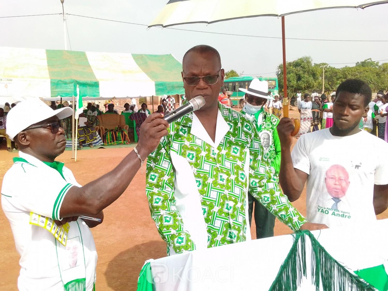 Côte d'Ivoire : Languibonou, lors d'un meeting, un vice président du PDCI revient sur une prophétie de l'ex RDR et invite ses militants à résister