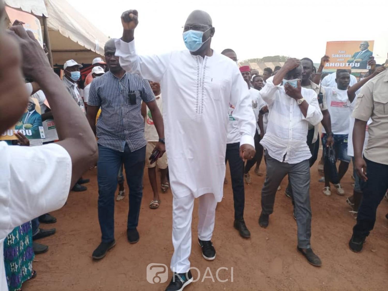 Côte d'Ivoire : Sakassou, dernier meeting de campagne du RHDP, Ahoutou Koffi invite à voter massivement
