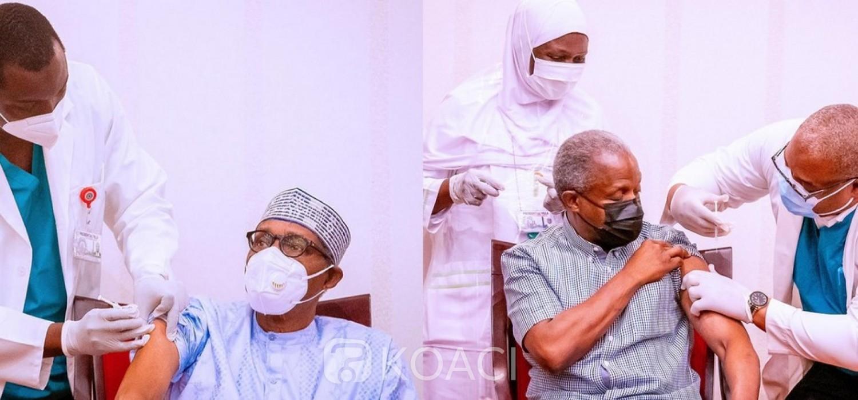 Nigeria :  Covid-19, Buhari et son VP vaccinés