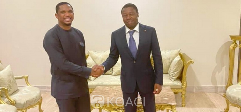 Togo :  Samuel Eto'o chez Faure Gnassingbé après une dose de motivation aux joueurs