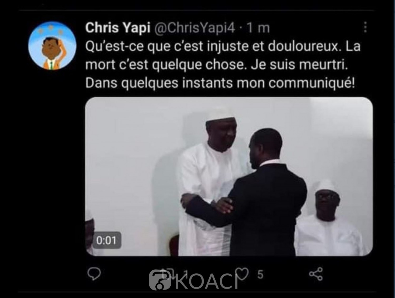 Côte d'Ivoire : Guillaume Soro dévoile par inadvertance son avatar « Chris Yapi » sur internet