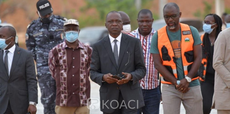 Côte d'Ivoire : À Séguéla pour les obsèques d'Hamed Bakayoko, Amadou Koné s'assure de l'état de réalisation des travaux de l'aéroport