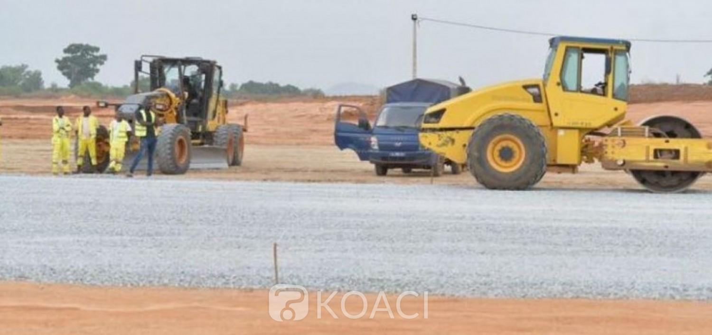 Côte d'Ivoire : Avant le transfert du corps d'Hamed Bakayoko jeudi à Séguéla, on  s'enquiert  de l'état des travaux d'aménagement en cours à l'aéroport