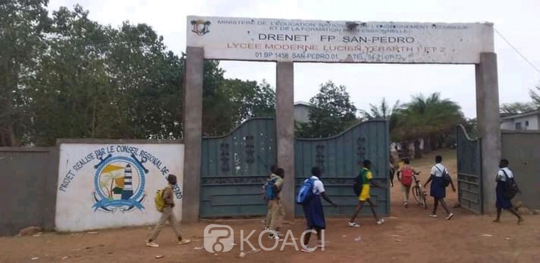 Côte d'Ivoire : San-Pédro, perturbant les cours pour des congés anticipés de Pâques, des « élèves » mis aux arrêts