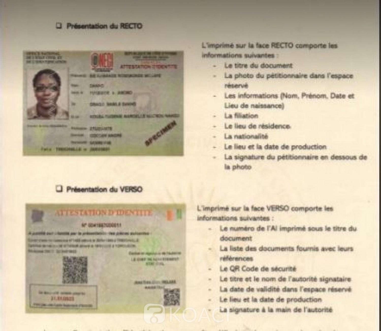 Côte d'Ivoire : Identification, un nouveau format des imprimés de l'Attestation administrative en circulation à compter du 1er avril