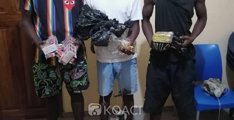 Côte d'Ivoire : Dimbokro, 05 membres du gang dont 02 agents pénitentiaires présumés livreurs de drogue à la prison, interpellés