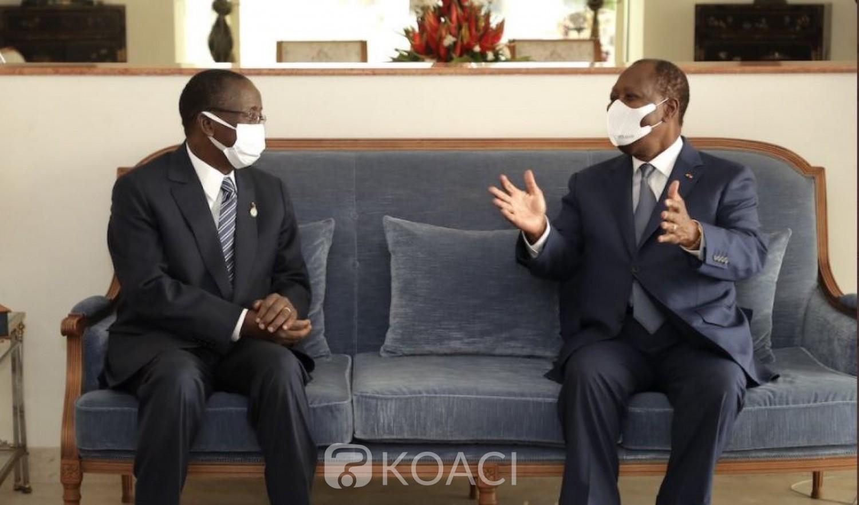 Côte d'Ivoire : Ouattara heureux de retrouver son jeune frère Ahoussou après un séjour médical de 08 mois en Allemagne  et France