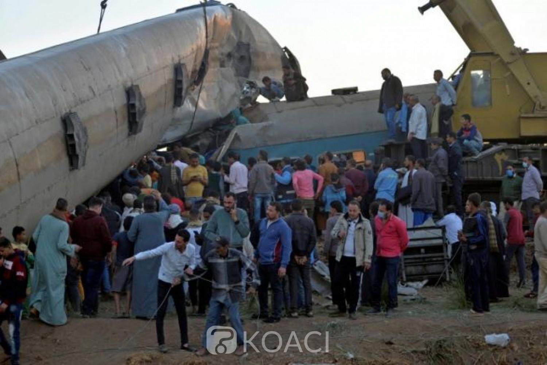 Egypte : Huit personnes aux arrêts après la mort de 19 personnes dans une collision de trains