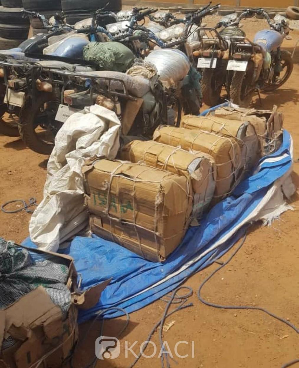 Burkina Faso : Plus de 665 kg de chanvre et diverses marchandises de contrebande saisis