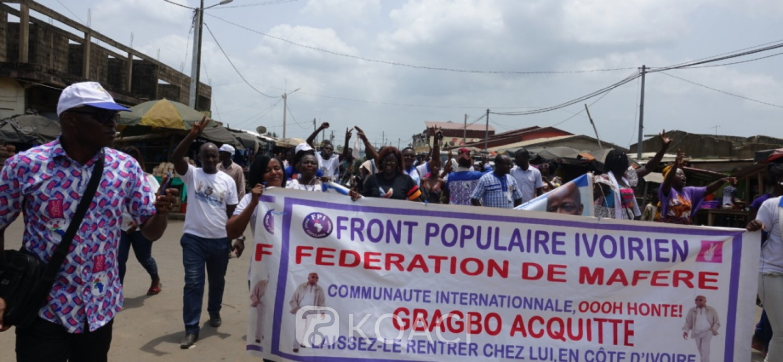 Côte d'Ivoire : Acquittement de Gbagbo et Blé Goudé, procession de joie du FPI à Aboisso