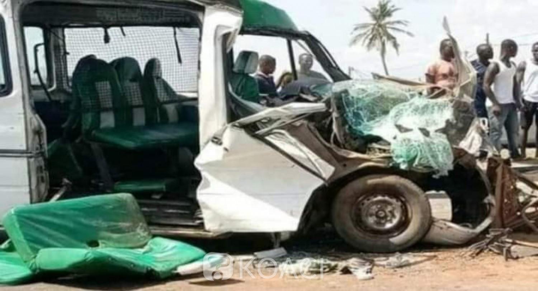 Côte d'Ivoire : Port-Bouët, un violent accident impliquant un gbaka et un poids lourd fait 01 mort au moins et des blessés