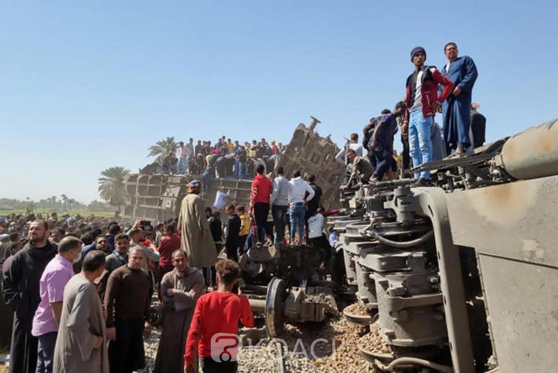 Egypte : Accident meurtrier, le conducteur de train était sous l'emprise de la drogue et pas à son poste