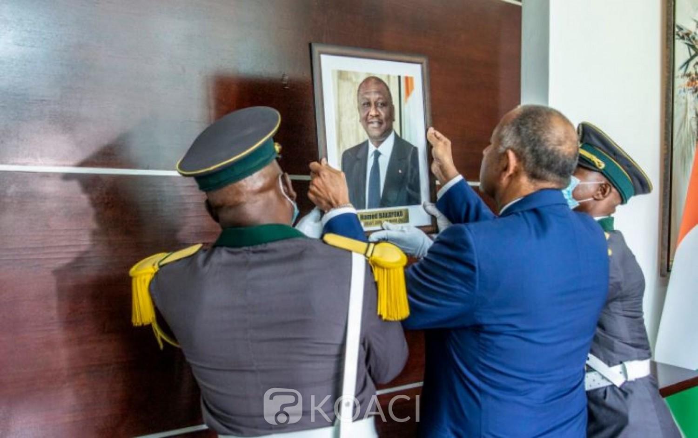 Côte d'Ivoire : Pose du portrait de son prédécesseur à la Primature, Patrick  Achi : « De là où nous sommes, nous agirons à votre image »