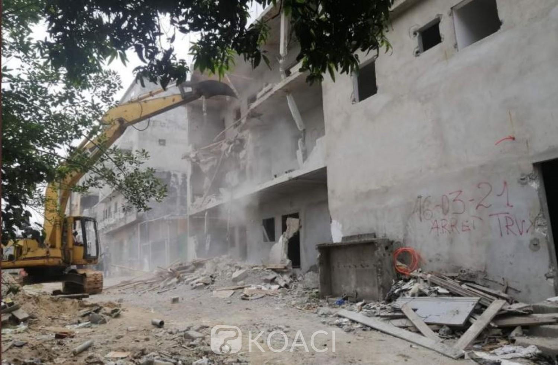 Côte d'Ivoire : Constructions anarchiques,  démolition d'un immeuble à Cocody-Anono