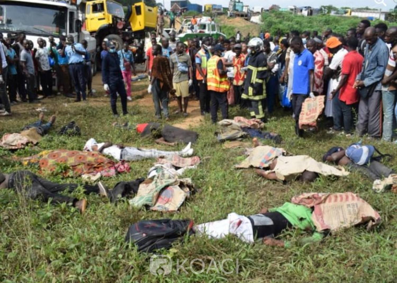 Côte d'Ivoire : Accident  d'Abobo-N'dotré, le bilan passe à 10 morts,  une enquête policière en cours en vue d'établir les responsabilités