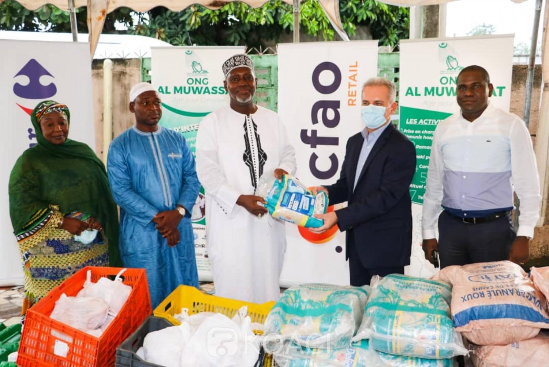 Côte d'Ivoire : Jeûne du ramadan, Carrefour soulage la mosquée du CHU de Treichville à travers un important don à l'Ong Al Muwassat  ainsi que plusieurs autres mosquées
