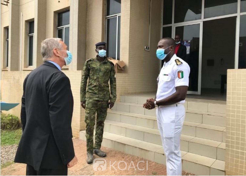 Côte d'Ivoire : L'Ambassadeur des Etats-Unis Richard Bell se renseigne sur le  fonctionnement du  Centre Opérationnel de la Marine à San Pedro
