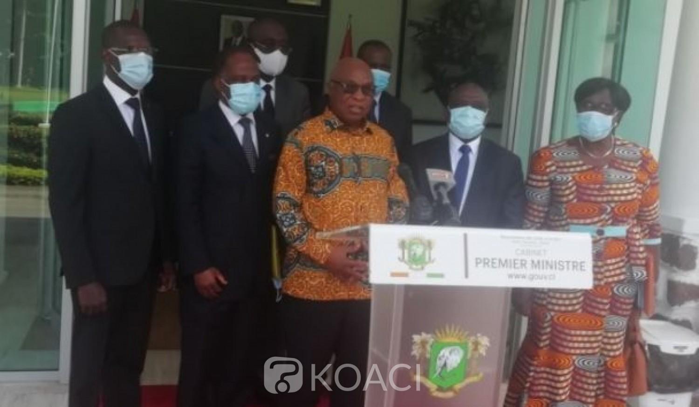 Côte d'Ivoire : Assoa Adou chez Patrick Achi annonce que la date du retour de Gbagbo sera fixée après une rencontre lundi avec les Ministres KKB et Vagondo