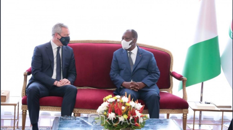 Côte d'Ivoire : La réconciliation, le métro et l'extension de l'aéroport d'Abidjan au centre de l'entretien entre Ouattara et Bruno Le Maire