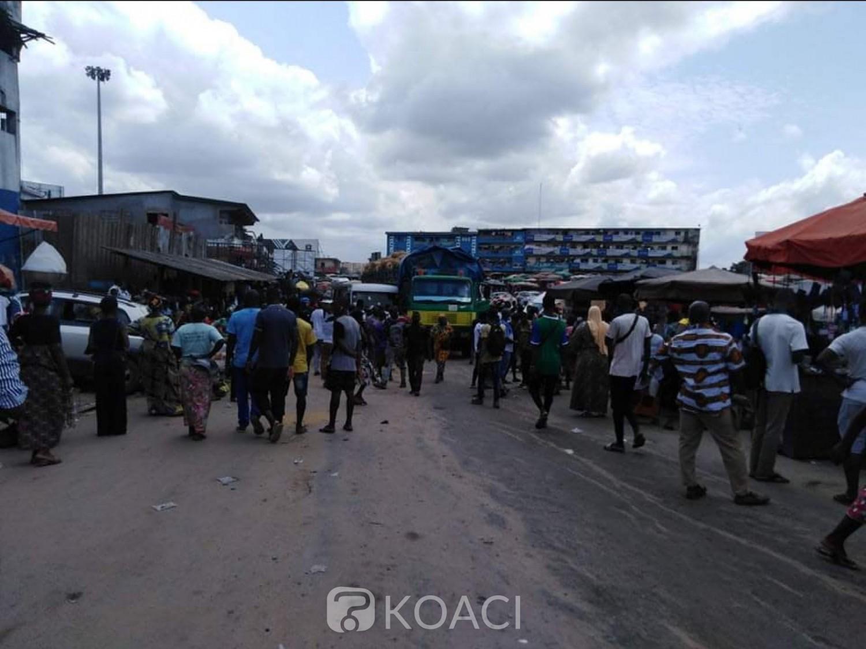 Côte d'Ivoire : Adjamé, horrible accident, les freins d'un gros camion lâchent, le véhicule fait des victimes dont certaines broyées