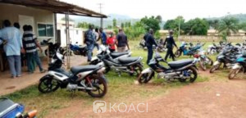 Côte d'Ivoire : Man, plus de 100 motos mises en fourrière pour défaut de port de casque
