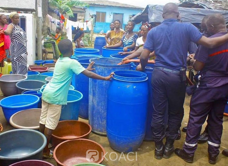 Côte d'Ivoire : Pénurie  d'eau, les sapeurs-pompiers initient une opération  distribution dans des quartiers