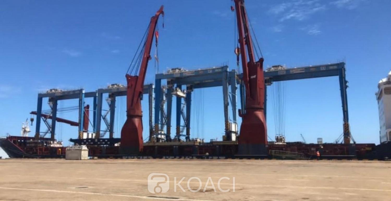 Cameroun : Le port de Kribi doté de  cinq nouveaux portiques de parc pour consolider sa croissance en volumes