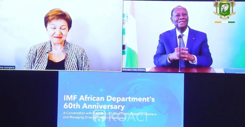 Côte d'Ivoire :  60ᵉ anniversaire du département africain du FMI, Ouattara plaide pour l'augmentation de manière significative du volume de financement aux pays africains