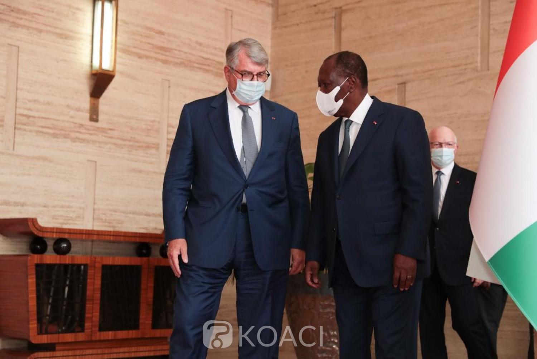 Côte d'Ivoire-France : Augmentation de la production électrique, Olivier Bouygues reçu au Palais présidentiel