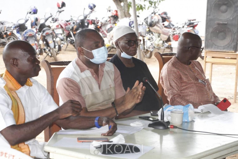 Côte d'Ivoire : Bouaké, afin d'intégrer la coordination RHDP Gbêkê 1, la base du parti Gbêkê 2 missionne Louis Habonouan