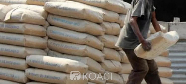 Côte d'Ivoire : Nouveaux prix du ciment à la tonne en détail à Abidjan et dans un rayon de 300 km