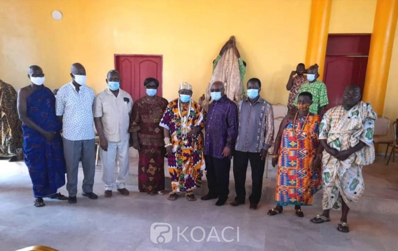 Côte d'Ivoire : Retour de Gbagbo, Assoa Adou conduit une délégation chez le Roi des N'zima, Amon Tanoe