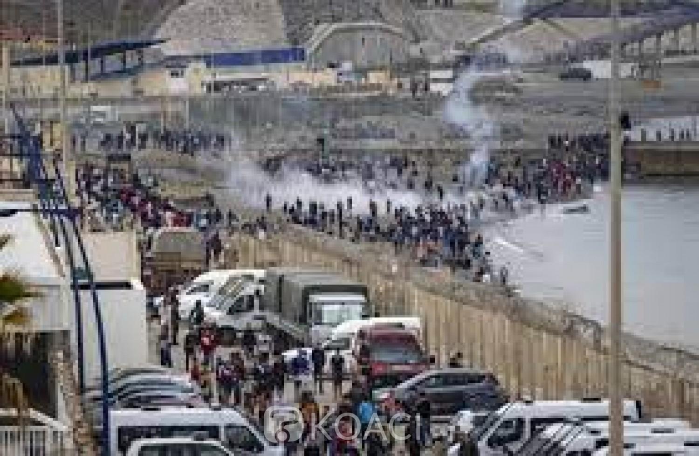 Maroc- Espagne : Arrivée record de 6000 migrants en 24 H  à Ceuta , 2700 expulsés