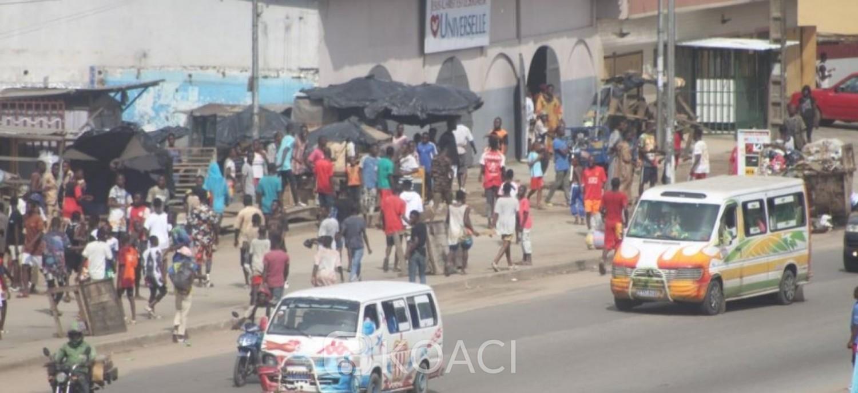 Côte d'Ivoire : Affrontements communautés ivoiriennes et étrangères, 12 personnes interpellées, 6 véhicules calcinés et une dizaine de magasins pillés