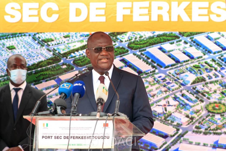 Côte d'Ivoire : Lancement des travaux du Port Sec de Ferké, Tené Birahima Ouattara demande à la jeunesse du District des savanes de saisir sa chance pour un emploi durable et décent