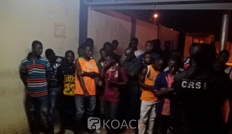 Côte d'Ivoire : Abobo, 102 personnes interpellées dans un fumoir dans le cadre de l'opération Épervier