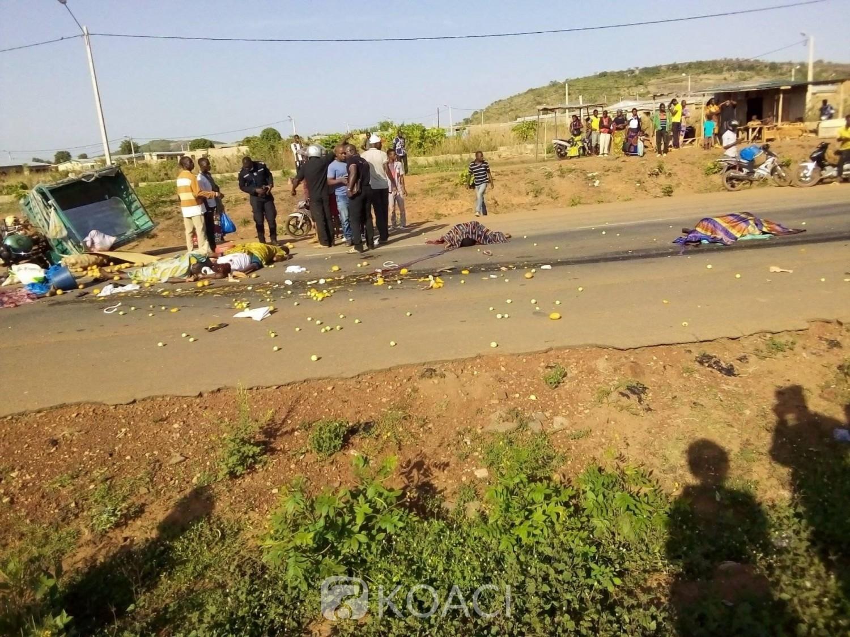 Côte d'Ivoire : Une collision entre un camion poids lourds et un tricycle fait 4 morts à Korhogo