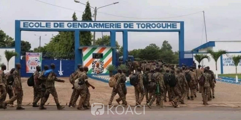 Côte d'Ivoire : Marche punitive des élèves gendarmes, après Yamoussoukro ils ont mis le cap sur Daloa, aucun incident signalé