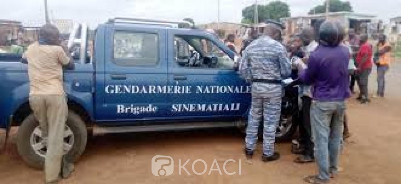 Côte d'Ivoire : Sinématiali, un gendarme en service copieusement tabassé par des masques