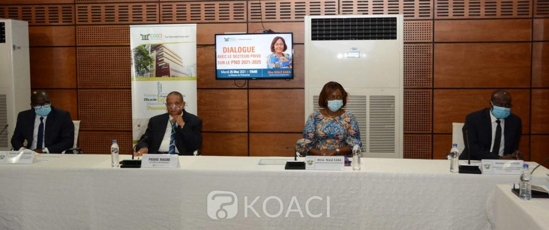 Côte d'Ivoire :   Finalisation du PND 2021-2025, les observations du secteur privé à Nialé Kaba.