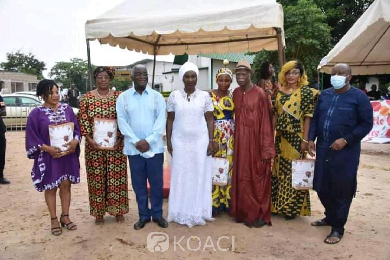 Côte d'Ivoire : « Pour leurs innombrables sacrifices », plusieurs femmes de la capitale du Gbêkê comblées par « Agir pour Bouaké »